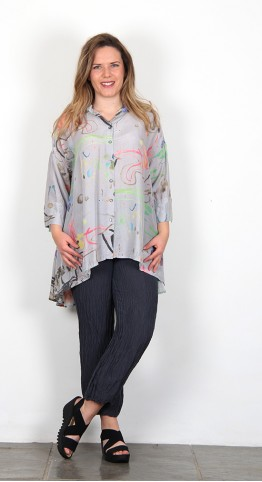 Grizas Silk Bamboo Shirt Garden Mix