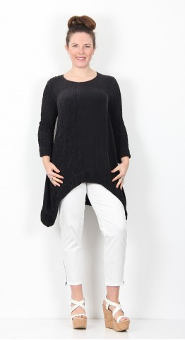 Grizas Silk Crinkle Tunic Black
