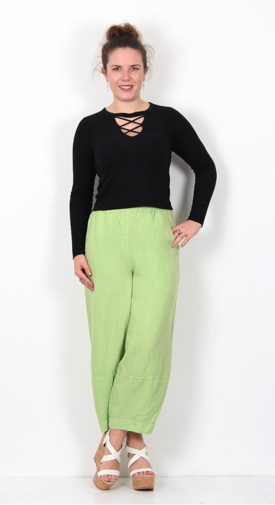 Grizas Linen Bubble Trousers Lime