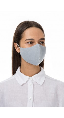 Grizas Pack of 3 Plain Linen Protective Face Masks Assorted Colours