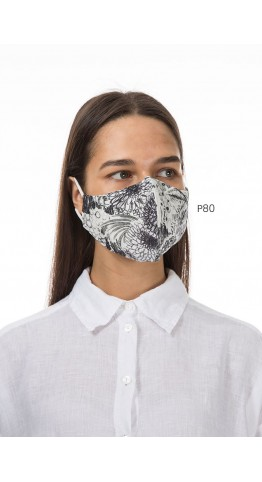 Grizas Pack of 3 Print Linen Protective Face Masks Assorted Patterns