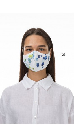 Grizas Pack of 3 Print Linen Protective Face Masks Assorted Patterns Bluemix
