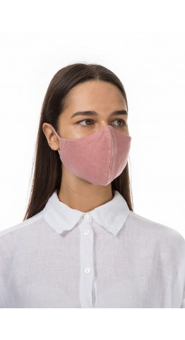 Grizas 3 Pack Linen Protective Face Masks Pink, White, Dk Pink, Free UK Delivery