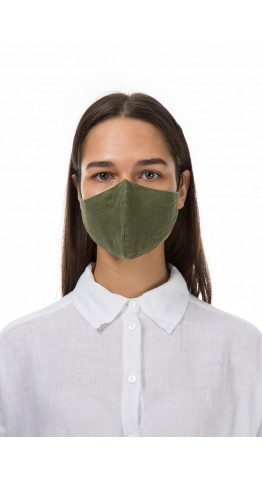Grizas 3 Pack Linen Protective Face Masks Moss, Mustard, Fir, Free UK Delivery!
