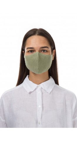 Grizas 3 Pack Linen Protective Face Masks Sage Turquoise Grey Free UK Delivery!