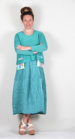 Grizas Linen Pocket Knit Sea
