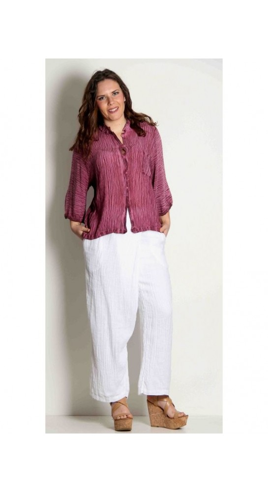 Grizas Wrap Front Trouser White