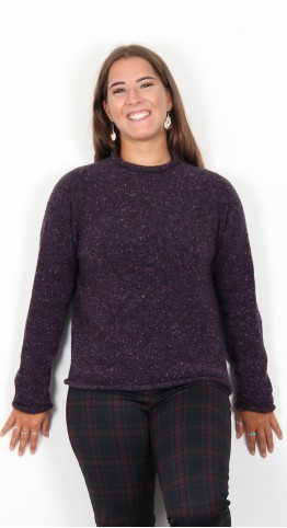 Harley Of Scotland Roll Edge Speckle Knit Bantry