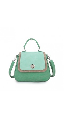 Hi-Di-Hi Hand Bag Poppy Green Mint