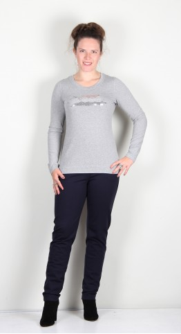 I'Cona Cool Jersey Top Silver