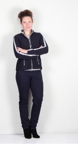 Icona Luxurious Fleece Zip Jacket Navy