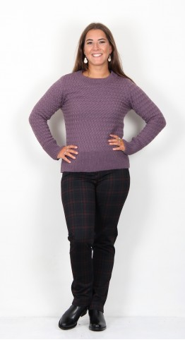 Ireland's Eye Bowen Lattice Weave Jumper Lavender