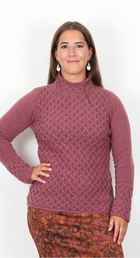 Ireland's Eye Trellis Sweater Dusted Rose