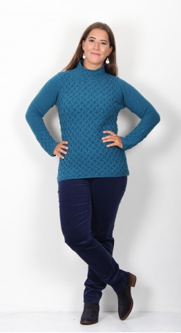 Ireland's Eye Trellis Sweater Teal