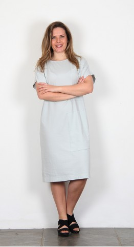 Ischiko Clothing Magnol Dress Cloud