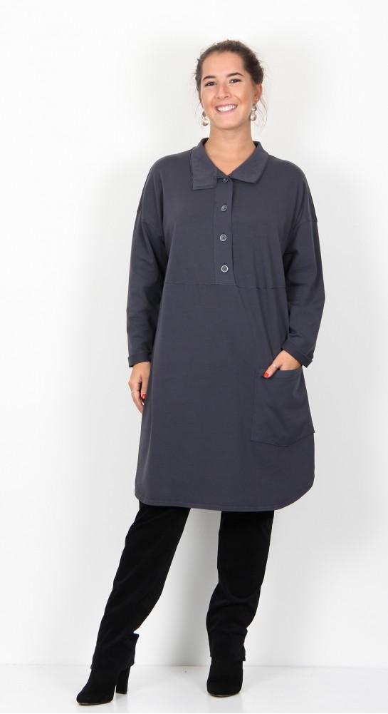 ISCHIKO Clothing Dress Bambylor 903 Grey Blue