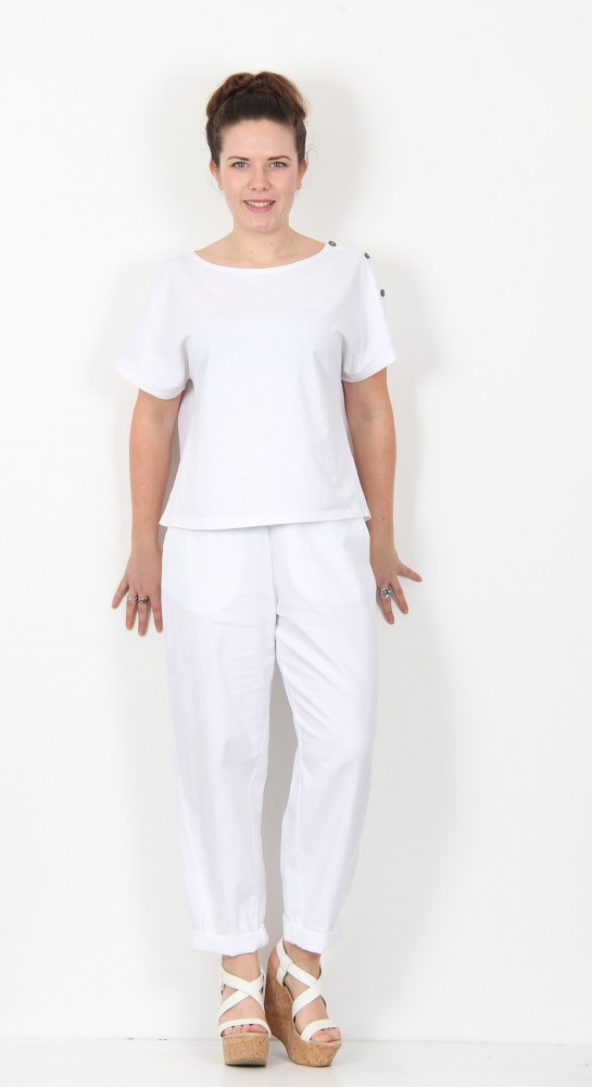 Ischiko Clothing Trousers Chilie 002 White
