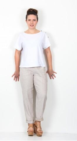 Ischiko Clothing Shirt Keyla 003 White