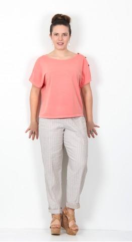Ischiko Clothing Shirt Keyla 003 Coral