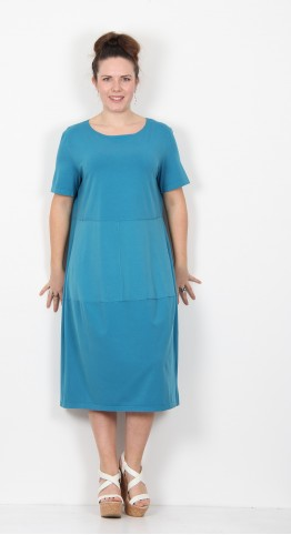 Ischiko Clothing Dress Gentiana 019 Turquoise