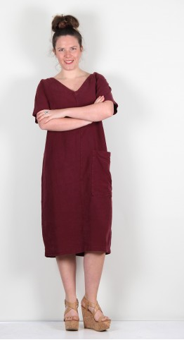 ISCHIKO Clothing Dress Hasina 107 Ruby