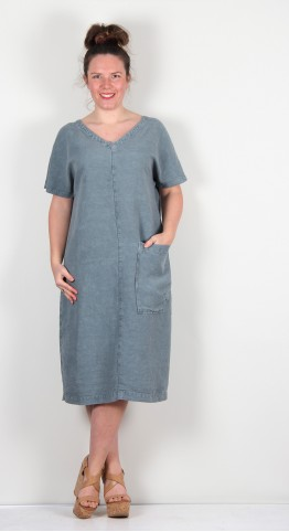ISCHIKO Clothing Dress Hasina 107 Cement