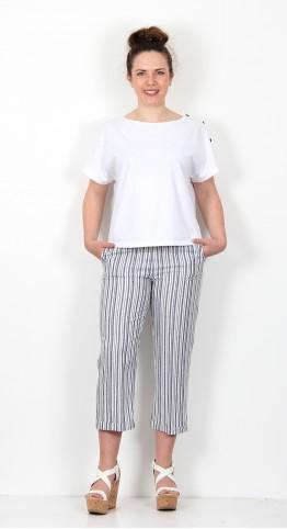 James Lakeland Ravarino Stripe Trousers Denim