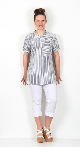 James Lakeland Ariele Shirt Denim Stripe