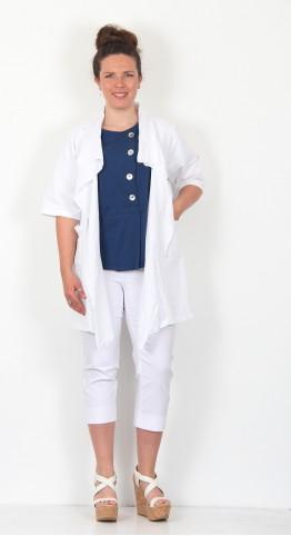James Lakeland Roll Sleeve Jacket White