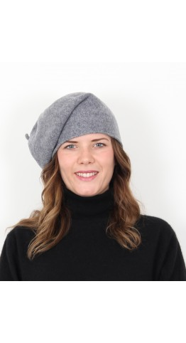 Kopka Felix Woollen Roll Up Beret Grey