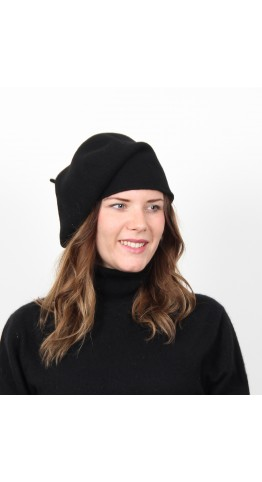 Kopka Felix Woollen Roll Up Beret Black