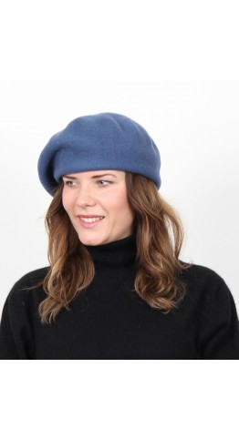 Kopka Felix Woollen Roll Up Beret Denim