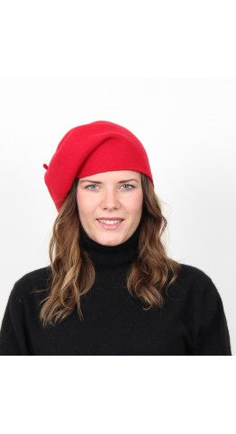 Kopka Felix Woollen Roll Up Beret Cherry