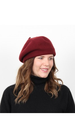 Kopka Felix Woollen Roll Up Beret Bordeaux