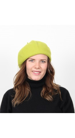 Kopka Felix Woollen Roll Up Beret Lime