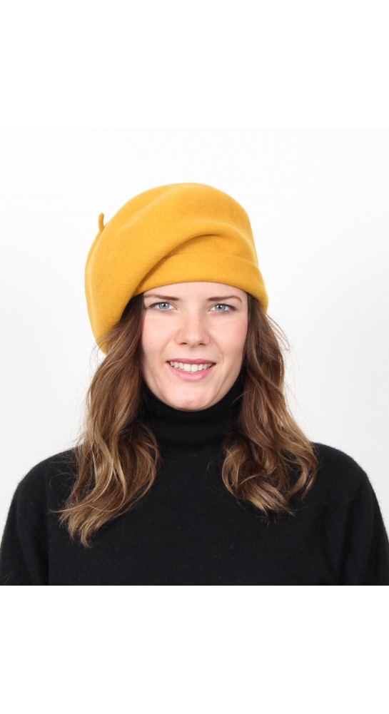 Kopka Felix Woollen Roll Up Beret Gold