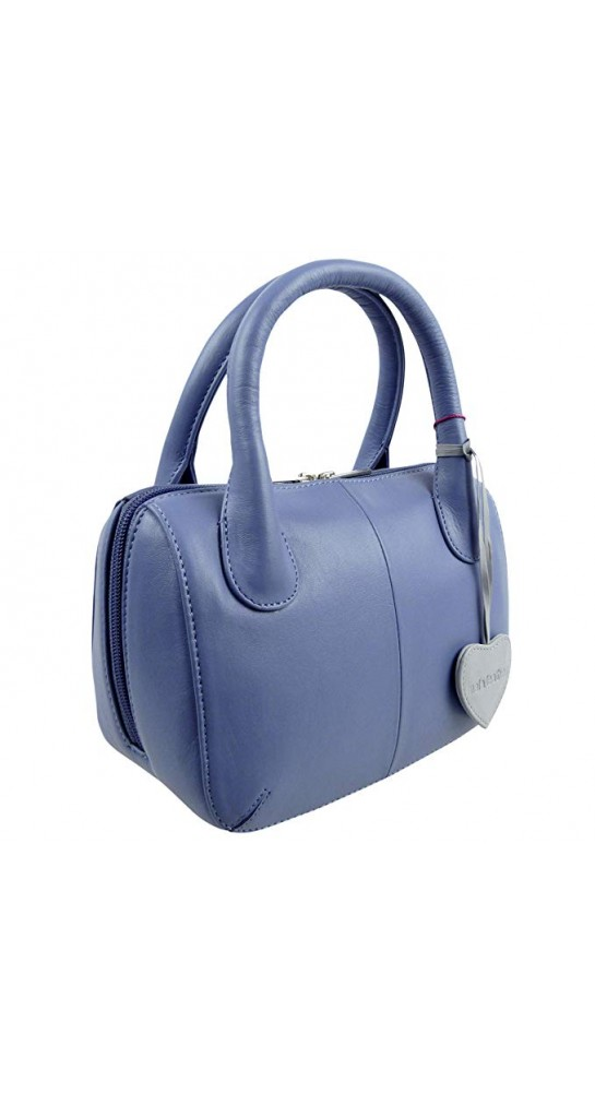 Mala Leather Anishka Grab Bag Blue