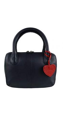 Mala Leather Anishka Grab Bag Navy