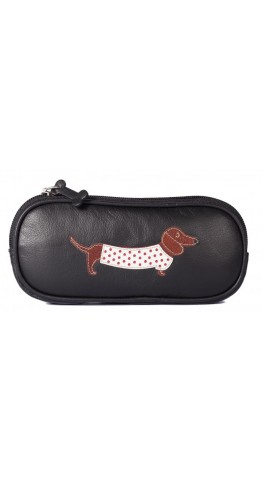Mala Leather Best Friends Sausage Dog Glasses Case