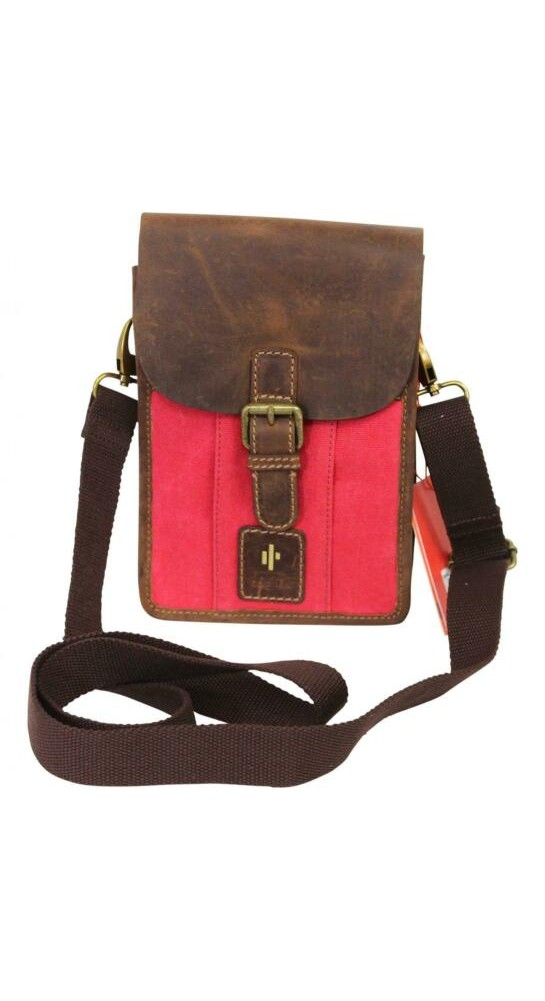 Cactus Small Leather Flap Bag Red