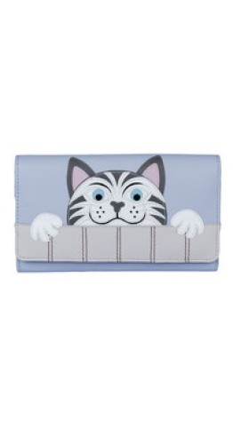 Mala Leather The Neighbours Cat Matinee Purse Blue