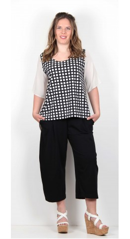 Mama B Alcea Shirt Black Check