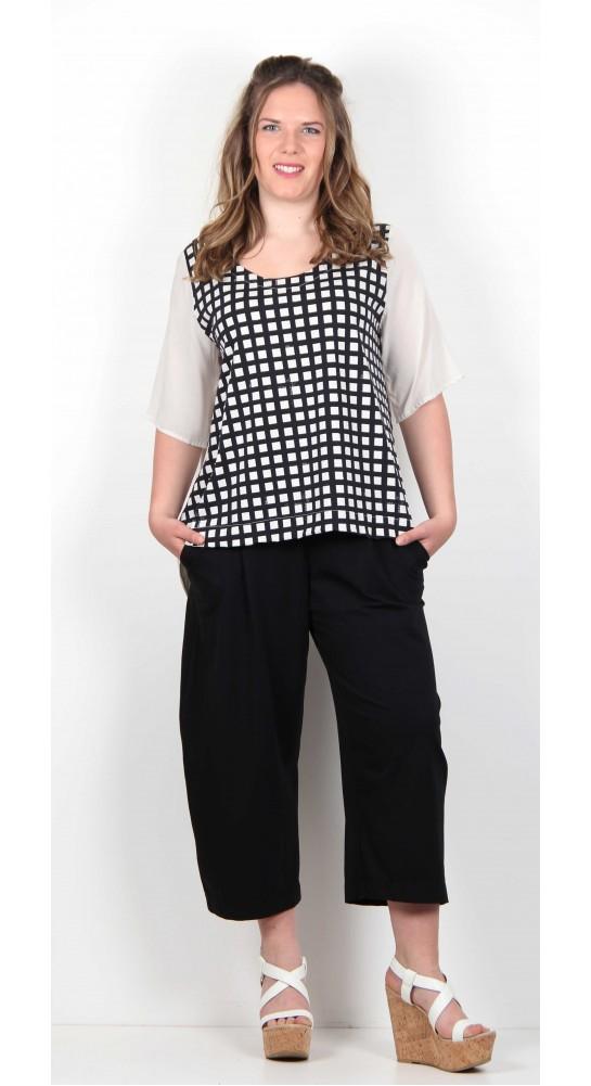 Mama B Alcea Shirt Black Check
