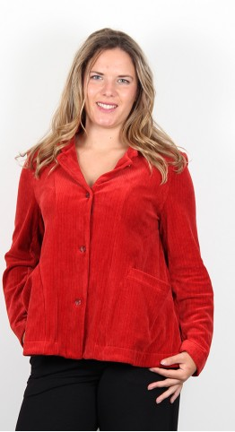 Mama B Celta Stella Cord Jacket Rust