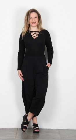 Mama B Bianco Trousers Black