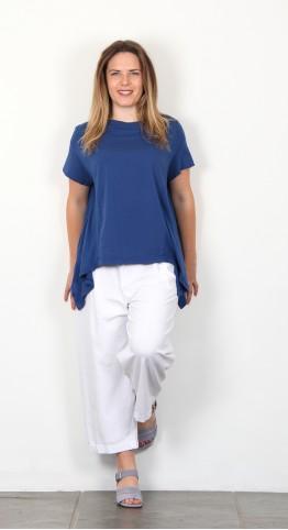 Mama B Suolo Tee Shirt Mid Blue