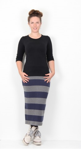 Mama B Lilla Skirt Biro Ash Stripe