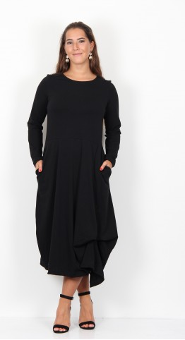Mama B Manama Jersey Dress Black