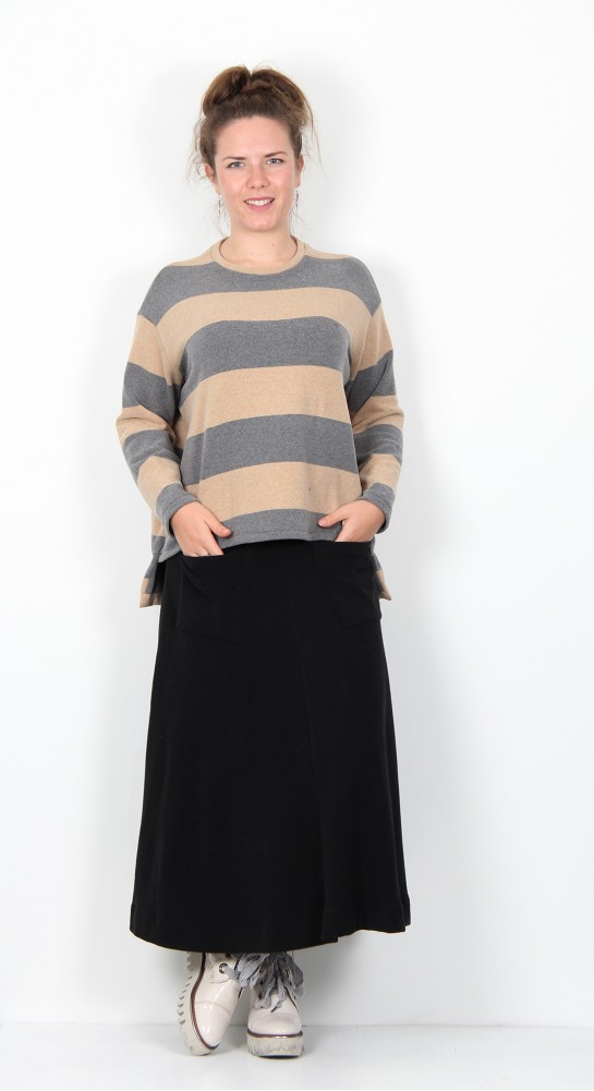 Mama B Quito Jumper Ash Cookie Stripe
