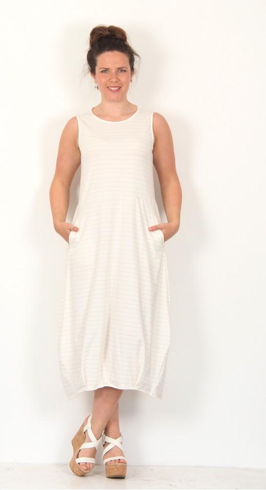 Mama B Coche Dress Stripe Lychee